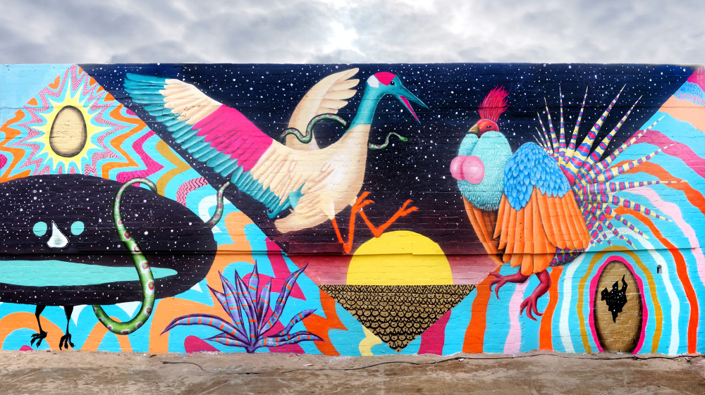 Collaborative Mural I Painted With Aaron Glasson At SILO In Makers Quarter San Diego