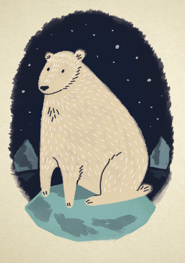 Polar Bear Xmas Card - Alex Ashman Illustration & Design